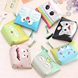 ShopNgift Stylish Monster Case Pouch purse For Earphone coin Pouch Case Bag Coins Memory Card Pouch Pendrive Bag Pouch box Case Jewllery Box keys Pouch Bag Case Wallet Pouch Mini Purse Accessories kit pouch box organizer gift for womens girls ladies gifts (Random Prints) Earphone Case coin Pouch Bag | Return Gift | Birthday Gifts 2 PC set