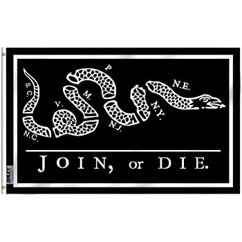 Join Or Die Snake Only Amazon.com : Flag: U.S...