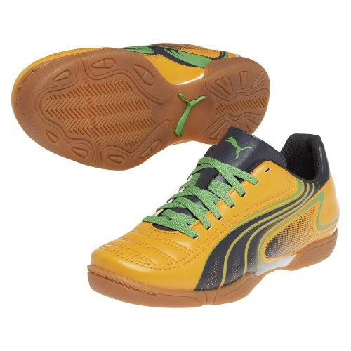 Puma Indoor V6. 11 It Jr Flame Orange selección de carbón de Classic Green