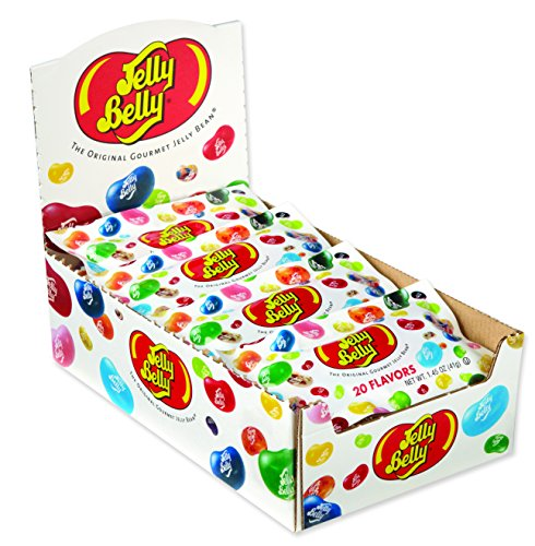 Jelly Belly Jelly Beans, 20 Flavors, 1-oz Packs, 36 Count