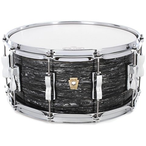 "Ludwig Classic Maple Snare Drum - 6.5"" x 14"" Vintage Black Oyster"