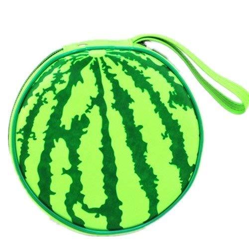 My Sky Cute Design Football, Watermelon, Baskeball, Tire and Hamburger Shape CD Storage Case Bag (Watermelon)