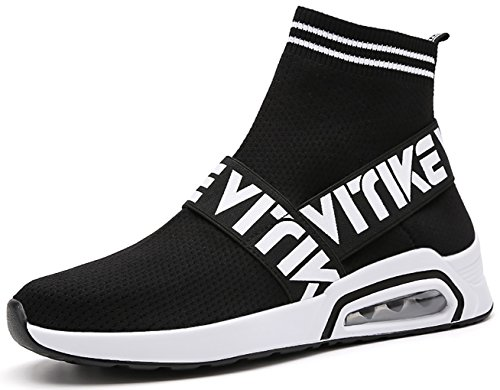 VITIKE Women's Running Shoes Fashion Breathable Sneakers Air Cushion Athletic Socks Shoes Knit Pattern Mesh Lightweight Gym Casual Shoes