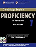 Cambridge English Proficiency 1 for Updated Exam Self-study Pack (Student's Book with Answers and Audio CDs (2)): Authentic Examination Papers from Cambridge ESOL