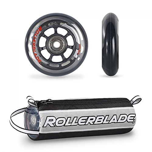 Rollerblade Wheelkit 76mm / 80A + SG5 SG5 Bearings ST & Headband Bundle by Rollerblade