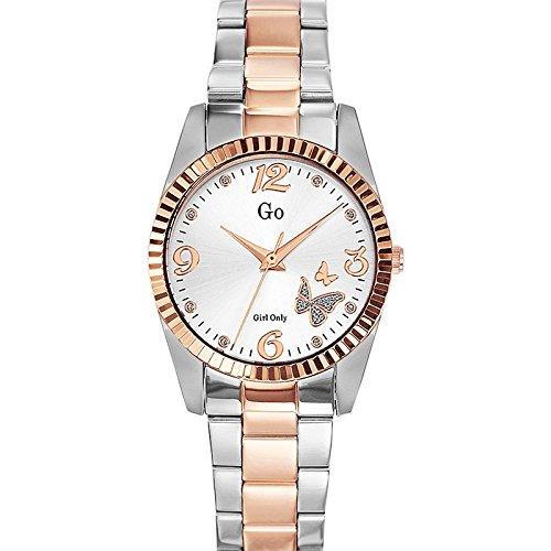 Go Girl Only-694925-Reloj para mujer cuarzo, analógico, correa de acero, color plateado: Amazon.es: Relojes