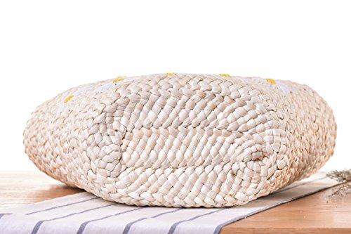 Animal Paille Gland Balls Husk Pompoms Sac Broderie d'¨¦t¨¦Sac Bandouli¨¨re Plant Tiss¨¦ Rayures Corn Pt9 Plage Abuyall De 4qTzwwp