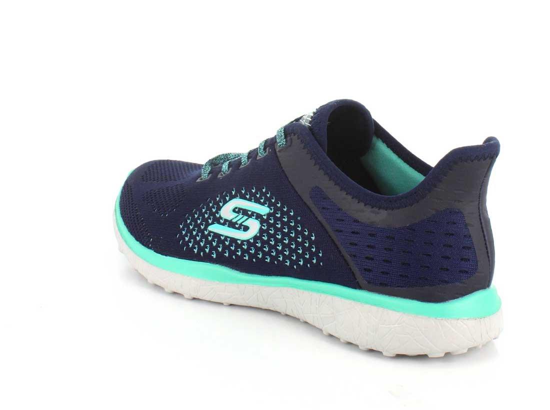 Skechers Sport Women's Microburst Supersonic Fashion Sneaker B01K4I7C9E 8.5 B(M) US|Navy/Green
