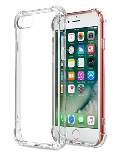 Speira iPhone 8 / iPhone 7 Transparent Case with Reinforced Corners, [Anti-Discoloration] [No-Slip Grip] (Clear)