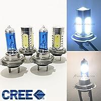 2 Pair H7 Super White Halogen 5000K H7 CREE Q5 Plasma LED Light Blue 8000K Xenon Lamp Headlight Bulb (High/Low Beam) US