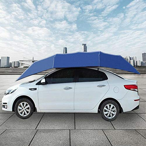 DiLiBee Auto-paraplu, halfautomatisch, op afstand bedienbare parasol, zonwering, tentdakbedekking, anti-uv-stof, water