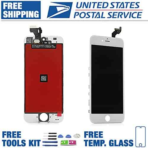 d98e91b435f5a7 Apple iPhone 5 LCD Display Touch Screen Full Replacement White Free Tools  and Tempered Glass Screen