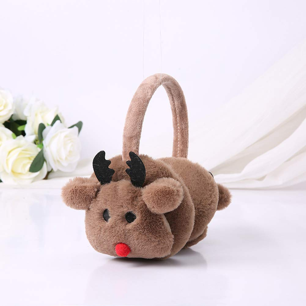 Funbase Christmas Plush Elk Earwarmer Winter Earmuff Ear Cover For Children