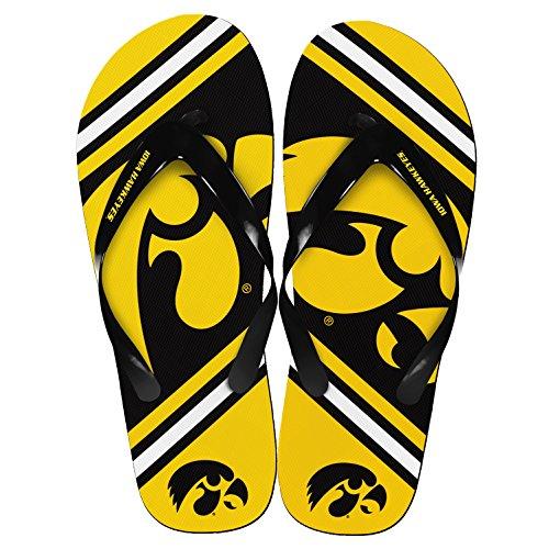 Iowa Hawkeyes Unisex Groot Logo Flip Flops Small (w 7-8)