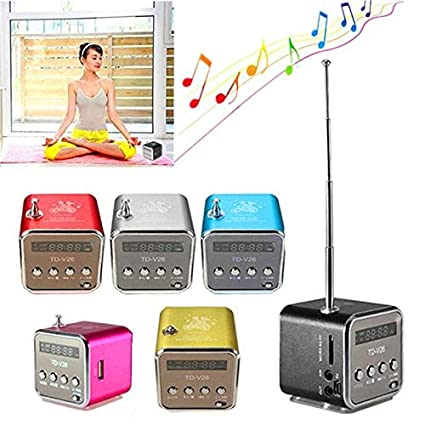 Amazon.com: FAIYIWO Mini altavoz Bluetooth Estereo inalambrica portatil reproductor de MP3 FM Radio altavoz TF tarjeta FAIYIWO Blue: Electronics