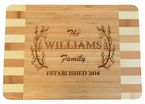 Personalized / Custom Engraved Bamboo Wood Cutting Board -