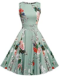 OWIN Women's Vintage 1950's Floral Spring Garden Picnic...