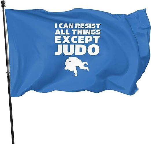 AmyNovelty Yard Flag, Puedo Resistir Todas Las Cosas, Excepto La Bandera De Judo, Elegantes Banderas De Jardín Estacionales para La Fiesta En El Jardín De La Casa 150x90cm: Amazon.es: Jardín