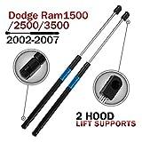 Dayincar Qty (2) DODGE Ram Hood Lift Supports Struts Dampers Shocks for 2002 to 2007 Dodge RAM 1500 2500 3500