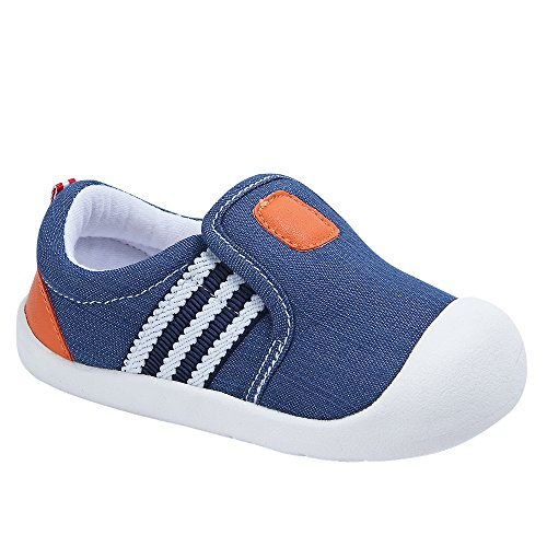 Image of Baby Girls Boys Canvas Casual Breathable Rubber Sole Outdoor Sneakers First Walkers Shoes
