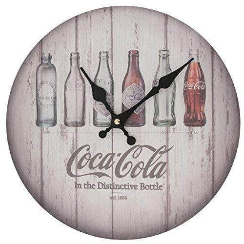 (Sunbelt Gifts 6404-47 Coca-Cola Evolution Bottles Clock, Multi)