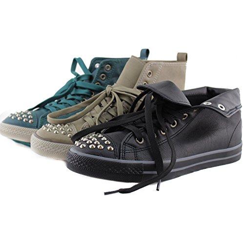 Breckelle Neo-25, Sneaker Comfort Con Borchia / Spike Deco - Sabbia Levigata