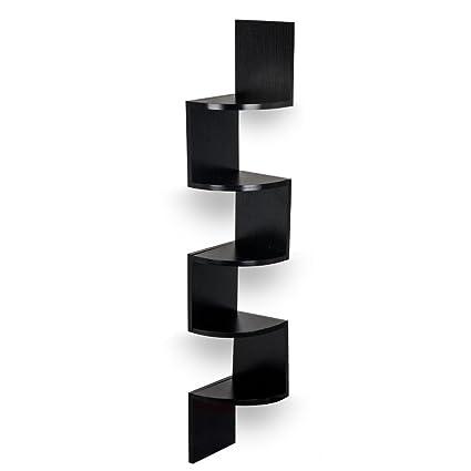 cfa5a09fcea Amazon.com  TopHomer Wall Mounted Corner Floating Display Shelf 5 ...