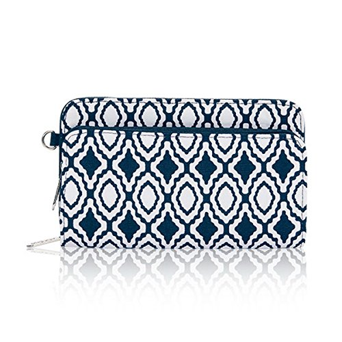 Thirty One Perfect Cents Wallet in Navy Perfect Pendant - No Monogram - 4808