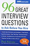 img - for 96 Great Interview Questions to Ask Before You Hire book / textbook / text book