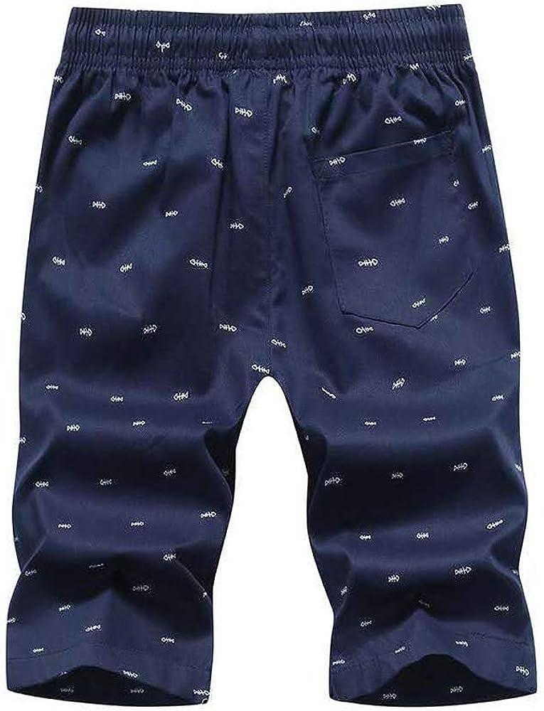 SKeshine Pantalones cortos de algodón para hombre, cintura ...