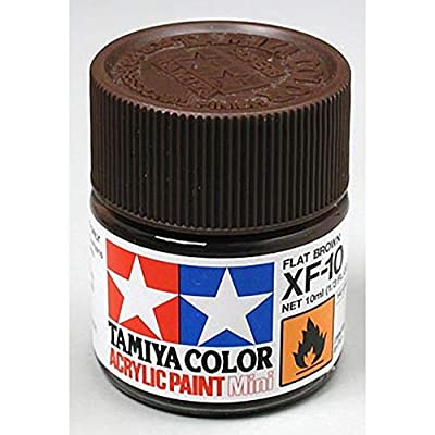 TAMIYA 81710 Acrylic Mini XF10 Flat Brown 1/3 oz: Toys & Games [5Bkhe1407303]