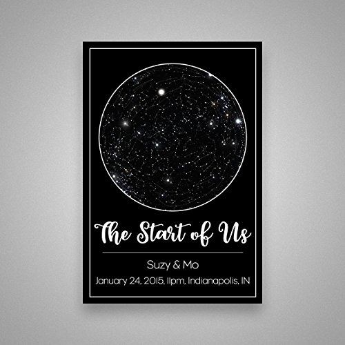 Custom Personalized Star Constellation Map, Star Chart, Choose Your Occasion, Custom Engagement Anniversary Present, Cool Gift Idea, Night Sky Poster - For Valentines Ideas Date