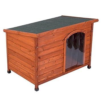 animalmarketonline Caseta para perros litera de madera para exterior Santoku L 85 x p 57 x H 58 cm: Amazon.es: Productos para mascotas