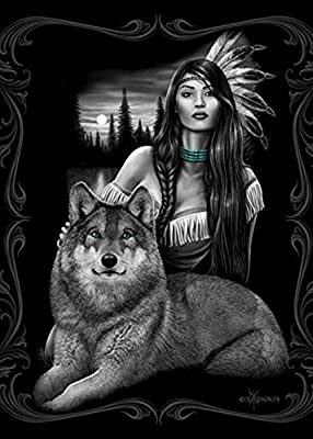 """Wolf """"Harmony"""" Signature Collection Queen Size Blanket"""