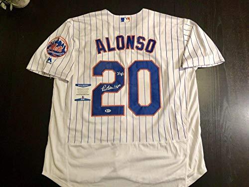 Peter Pete Alonso Hand Signed New York Mets Jersey ML Debut LGM Beckett Cert - Beckett Authentication ()