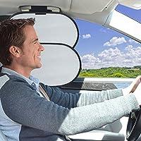 WANPOOL Car Interior Roof Handle Sun Blocker & Sunshade for Front Seat Side Window