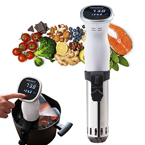 INNOKA Sous Vide Cooker Thermal Immersion Circulator w/Digital Display LED Touch Screen, Accurate Temperature & Time Control, Quiet & Easy to Clean, Stainless Steel, 850 Watt for making Quality Food