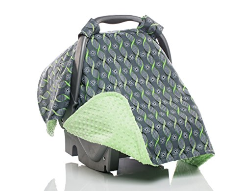 Elonka Nichole Baby Boy Carseat Canopy, DNA Science Themed
