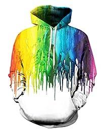 FEOYA Mens Unisex Print Hooded Sweatshirts Graphic Long Sleeve Pullover Hoodies