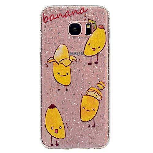 Funda para Samsung Galaxy S7 , IJIA Transparente Brillante Brillo Purpurina llamativa Lindo Unicornio TPU Silicona Suave Cover Tapa Caso Parachoques Caja Carcasa Cubierta para Samsung Galaxy S7 (5.1) MM58