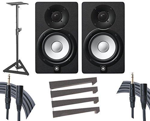 (Yamaha HS7 Studio Monitor Pair + Stands + Auralex Mopads + Mogami Cables)