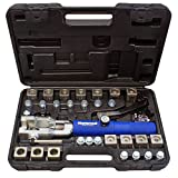 Mastercool 72475-PRC Blue and Silver Universal Hydraulic Flaring Tool Set with Tube Cutter, 1 Pack