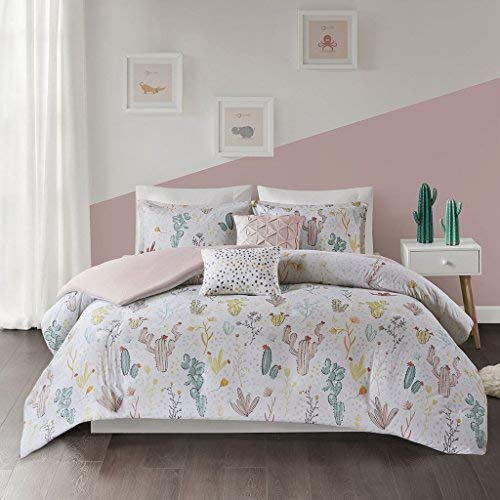 Urban Habitat Kids Desert Bloom Ultra Soft 100% Cotton Printed Floral 4 Piece Duvet Cover Set Teen Bedding, Twin/Twin XL Size, Red Multi
