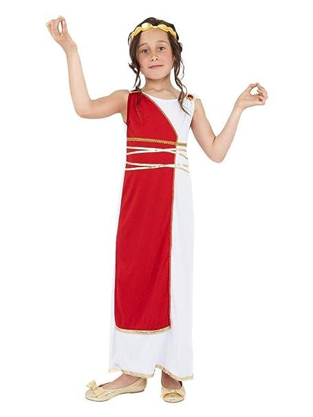 Fancy Me - Déguisement Costume Toge Romaine Grecque Filles pour Carnaval Jour du Livre - Blanc