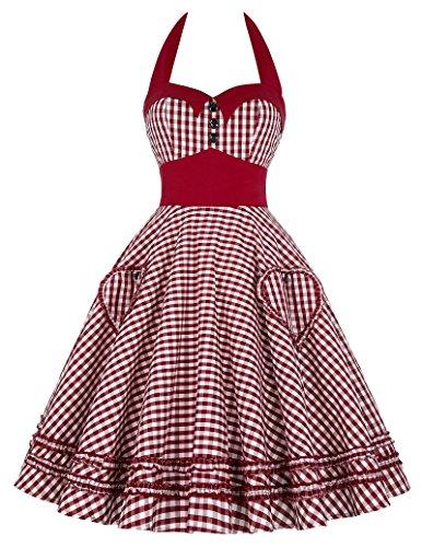 Checkerboard Print Dress - 7