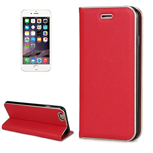 GHC Cases & Covers, Für iPhone 6 Plus & 6s Plus Cowhide Texture PC Stoßfänger Starke magnetische Adsorption Horizontale Flip Leder Tasche mit Card Slots & Holder ( Size : Ip6p7570r )