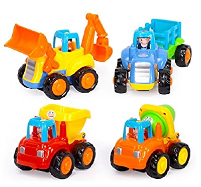 D-Mcark Early Educational Toddler Baby Toy Push and Go Friction Powered Car Toys Sets of 4 Tractor Bulldozer Mixer Truck and Dumper for Children Kids Boys and Girls 1 Year Old to 3 Year Old by D-Mcark that we recomend personally.
