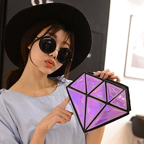 catena borsa bag borse Ourbest messenger di laser ologramma forma olografico bag a diamante Crossbody S4OSgYn