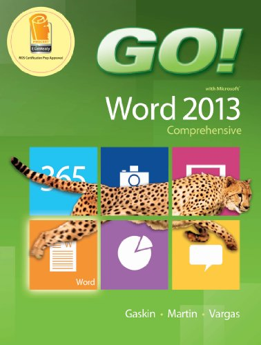 GO! with Microsoft Word 2013 Comprehensive Pdf