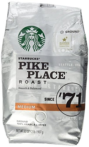 Starbucks Pike Place Roast Ground Coffee, Medium Roast (32 oz bag)